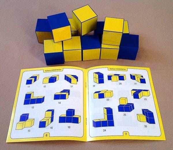 Развивающая игра Кубики Хамелеон