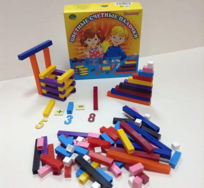 Система работы с материалом Цветные счетные палочки Кюизенера