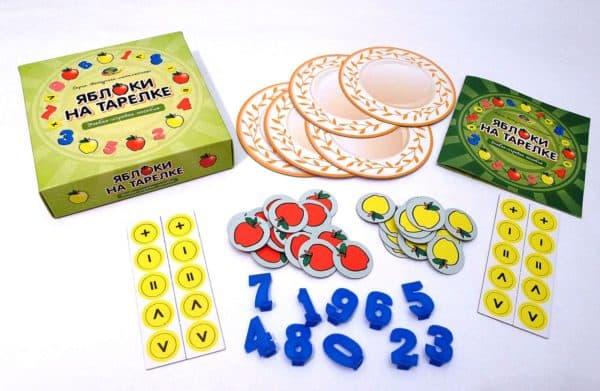 игра Яблоки на тарелке для детей от 4 лет